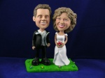Bobblehead Standing on Grass - Cake Topper