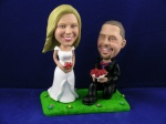 Bobblehead Standing on grass - Bended Knee cake topper