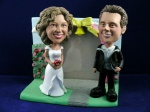 Bobblehead Rose Garden Wedding Gift