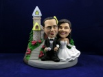 Bobblehead Castle Wedding Gift