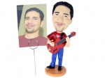 Bobblehead Guitar Player