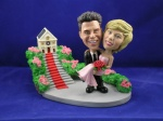 Bobblehead Carrying The Bride Wedding Gift