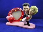 Bobblehead Heart Frame - Carrying the bride