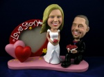 Bobblehead Heart Frame Wedding Special